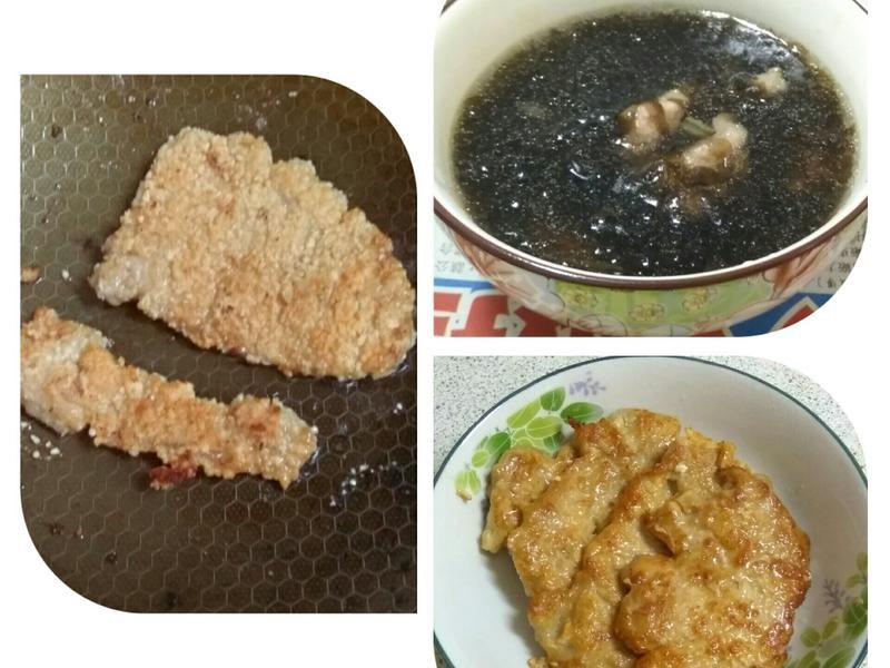 里肌肉三吃(香酥、嫩煎、湯品)