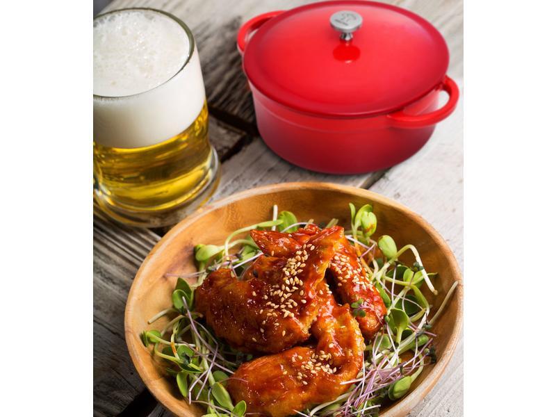 【摩堤_鑄鐵鍋料理】韓式炸雞