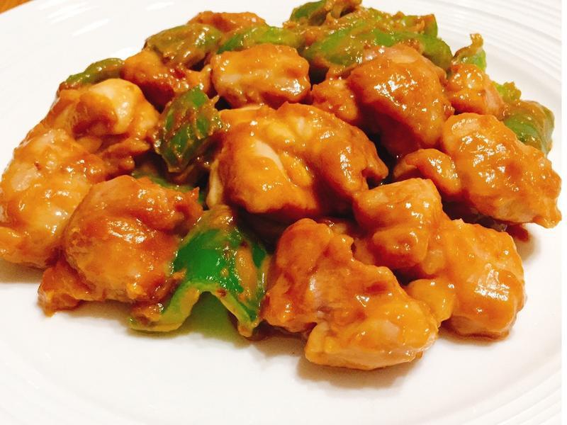 味噌雞肉炒青椒