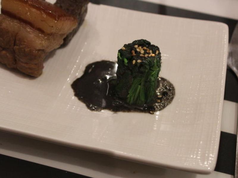 清燙菠菜黑芝麻醬