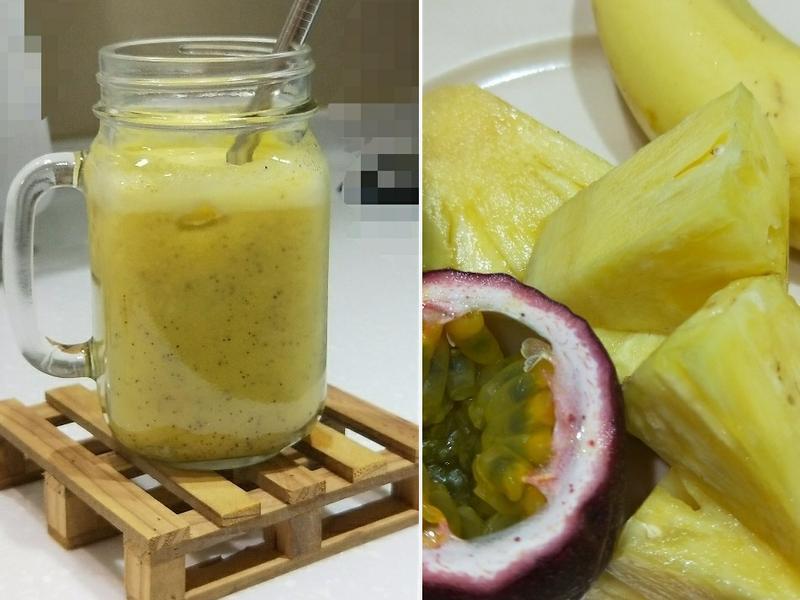 百香果香蕉鳳梨汁