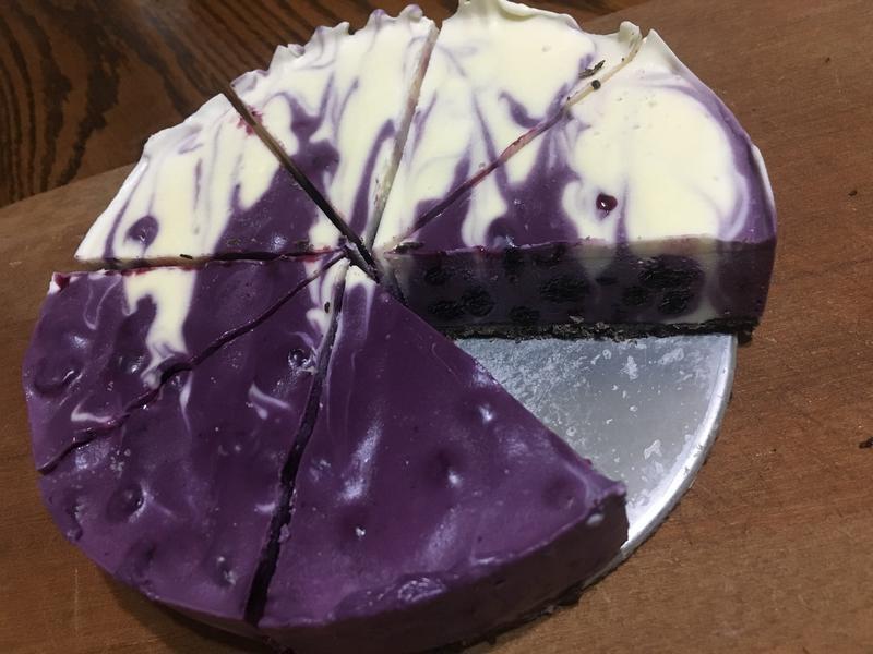 6吋藍莓拉花Orea生乳酪蛋糕