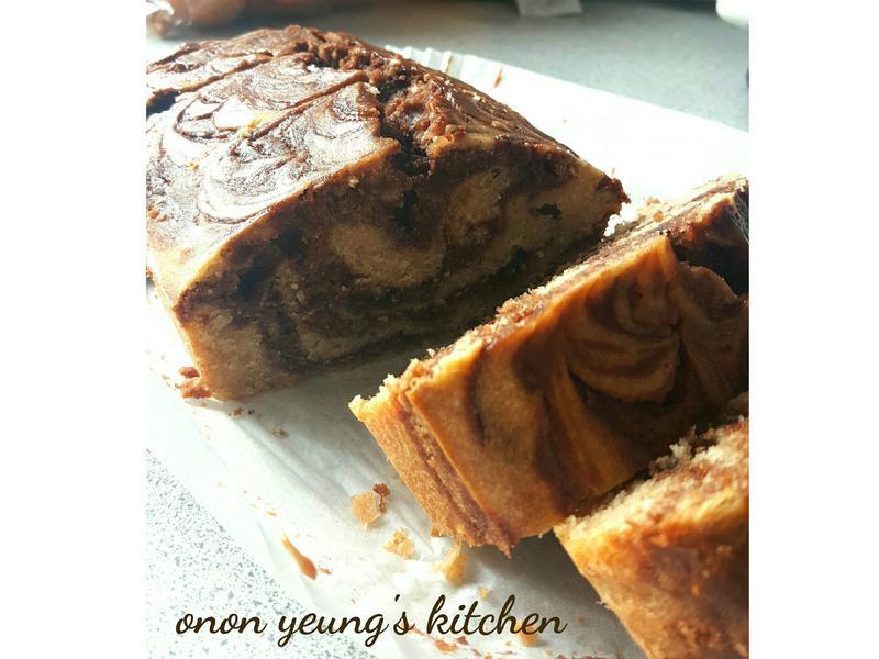 榛子巧克力大理石磅蛋糕 (減糖版本)