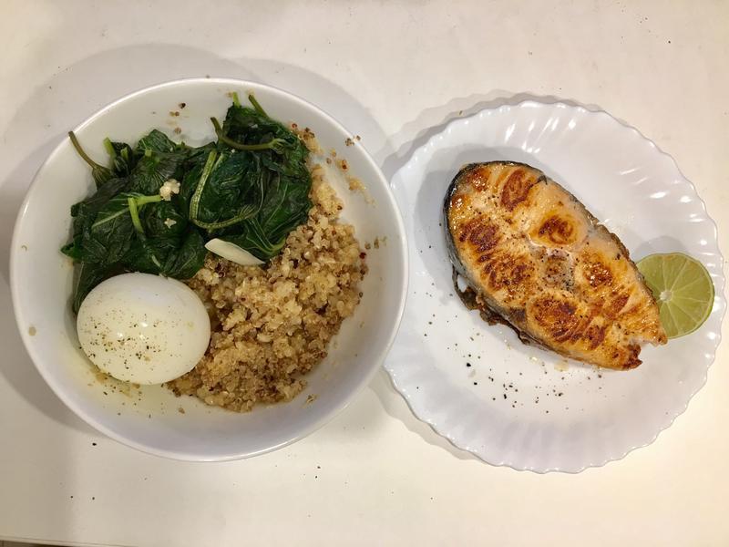 高蛋白「頭好壯壯鮭魚藜麥糙米飯」615卡