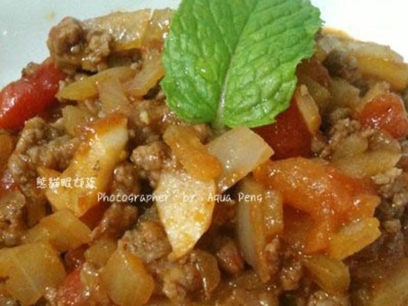 【簡單做菜】蕃茄炒牛肉。拌麵拌飯都好吃