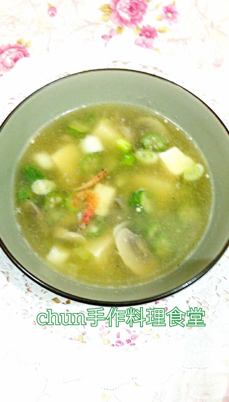 秋葵豆腐味磳湯