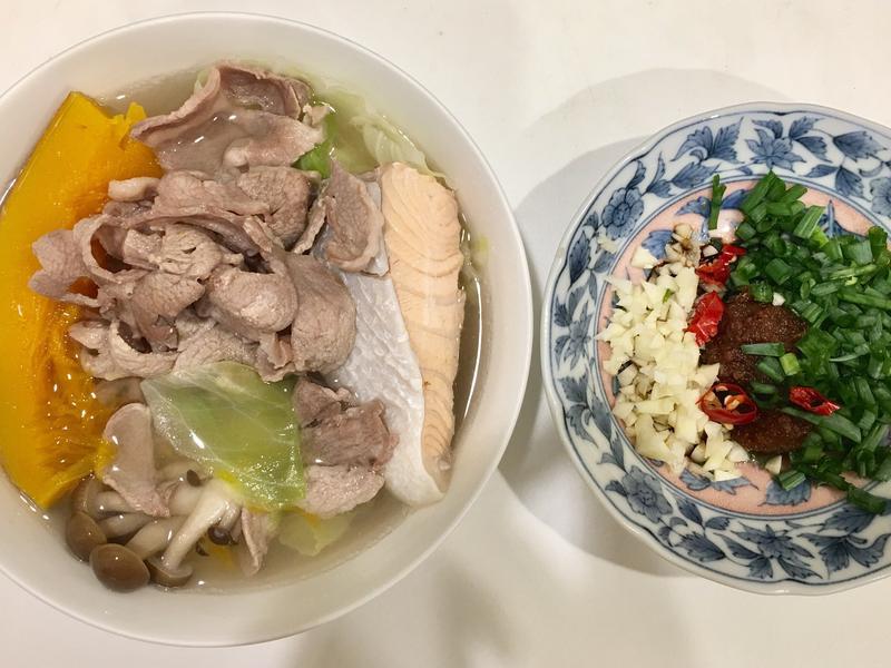 高蛋白「鮭魚羊肉養肌鍋」580卡