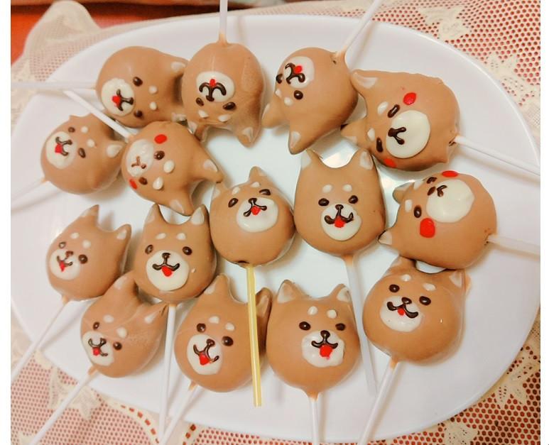 狐狸犬/柴犬cake pops