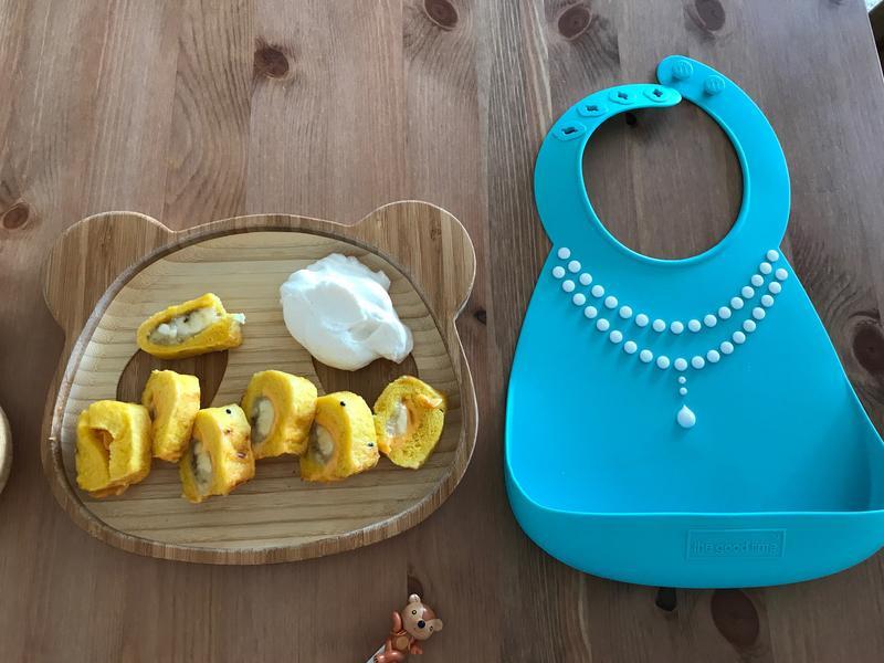 寶寶法式吐司香蕉捲佐腰果醬鮮奶油