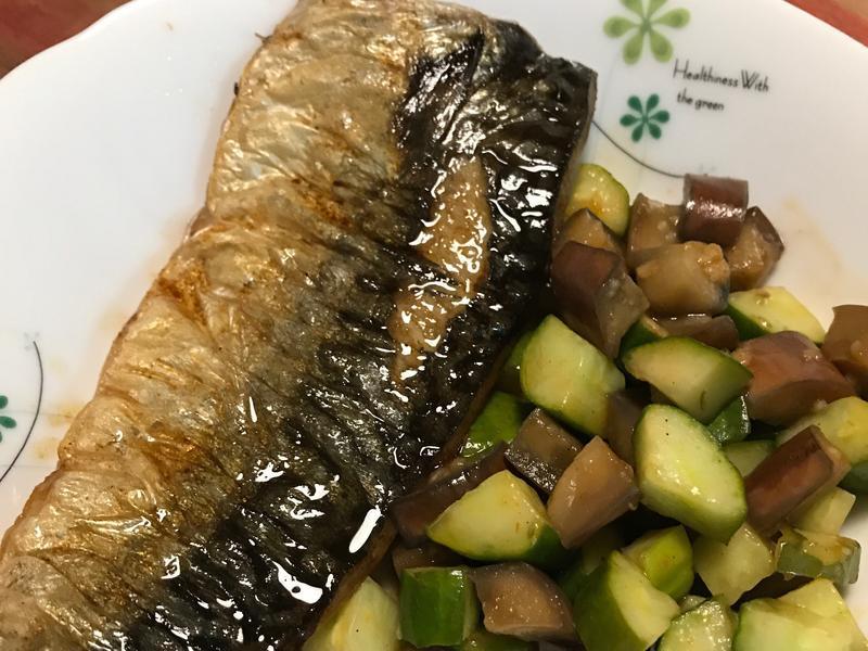 澄清奶油煎鯖魚佐奶油醬油