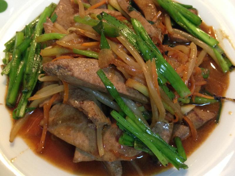韭菜豆芽炒豬肝