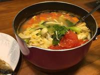 玉米南瓜味增蔬菜湯