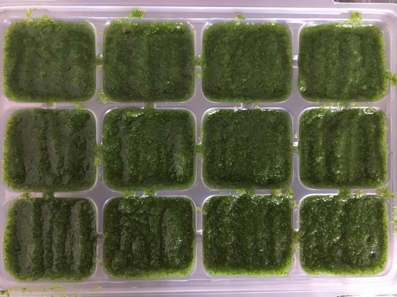 【副食品】青江菜泥 電子鍋烹飪
