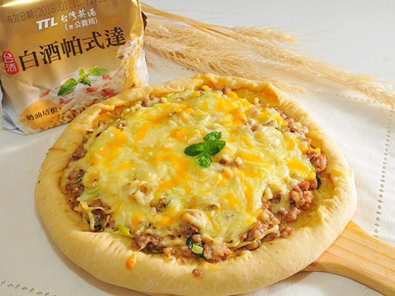 豬肉鮮菇芝心披薩【白酒帕式達】