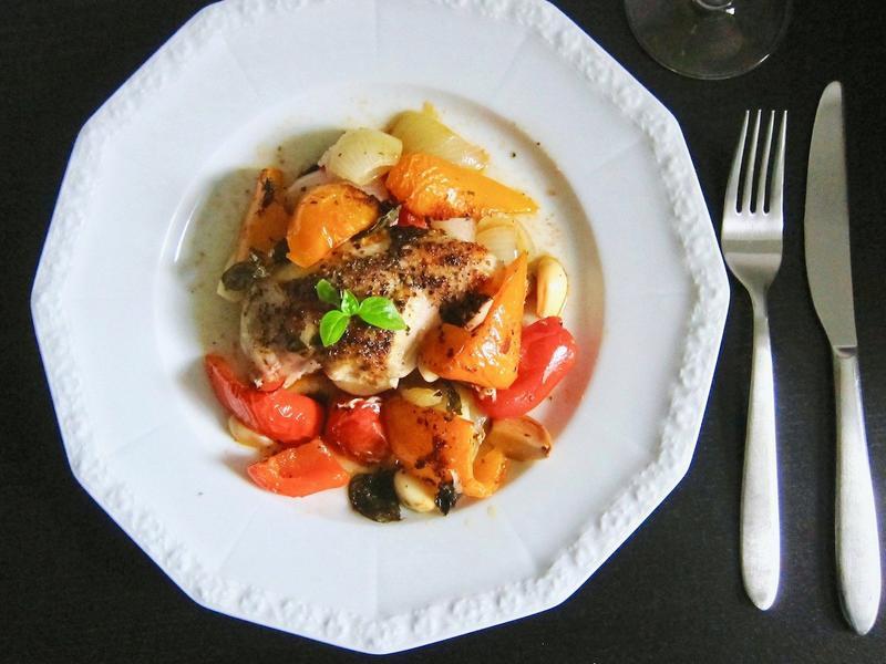 雞肉烤蔬菜