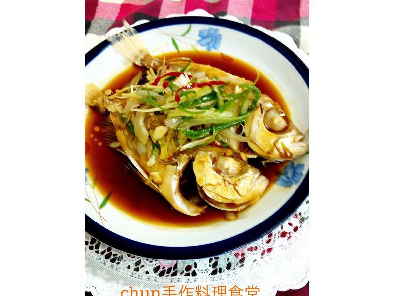 清蒸魚(紅目連)~免電鍋