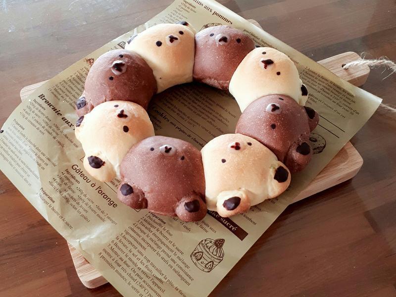 拉拉熊造型手撕麵包