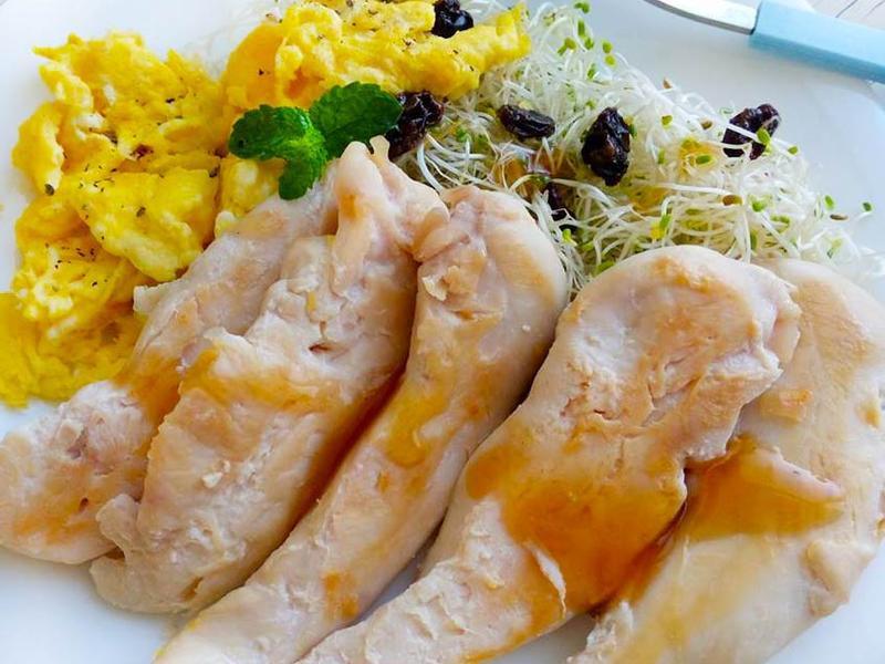 桔醬雞柳溫沙拉〞
