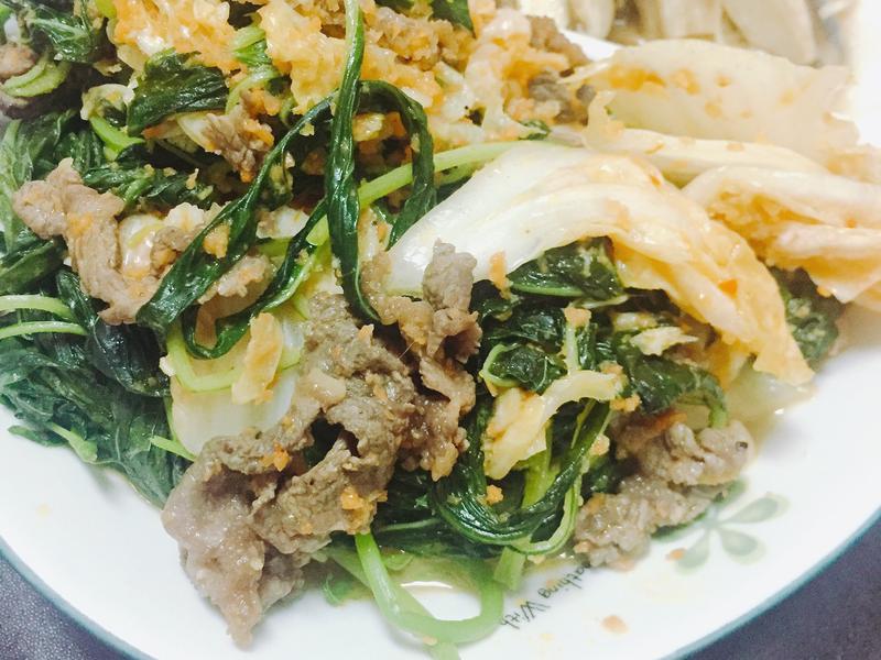 泡菜牛肉炒莧菜