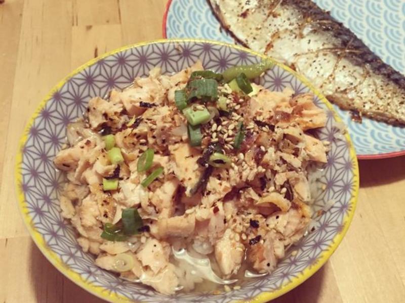 日式鮭魚茶泡飯,簡單的幸福滋味