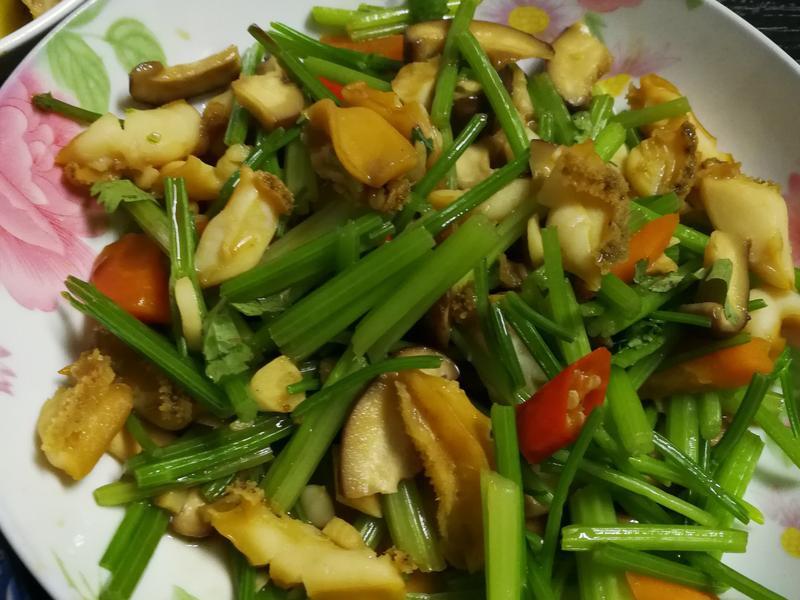 炒鮮蔬鮑魚