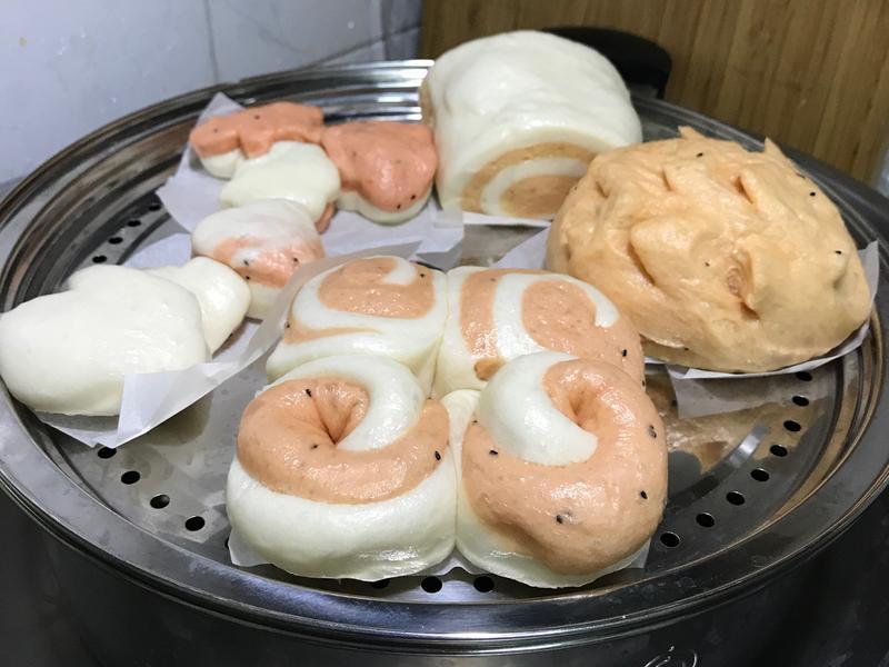 火龍果饅頭