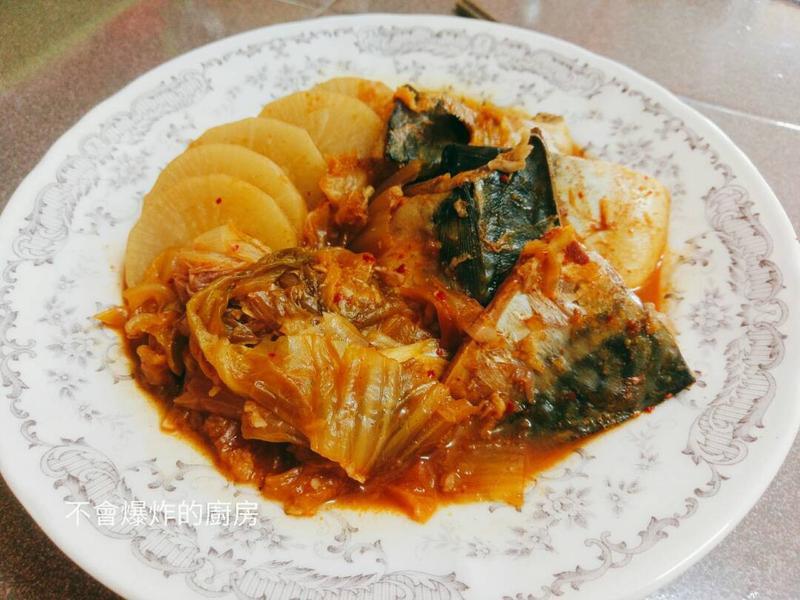 泡菜白蘿蔔燉鯖魚