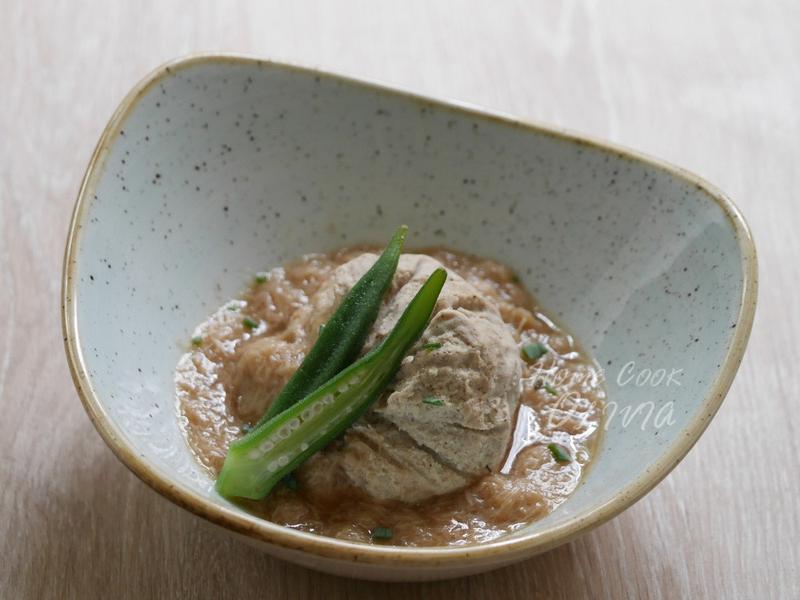 小廚娘❤袱巾胡麻豆腐佐和風菇蕈醬