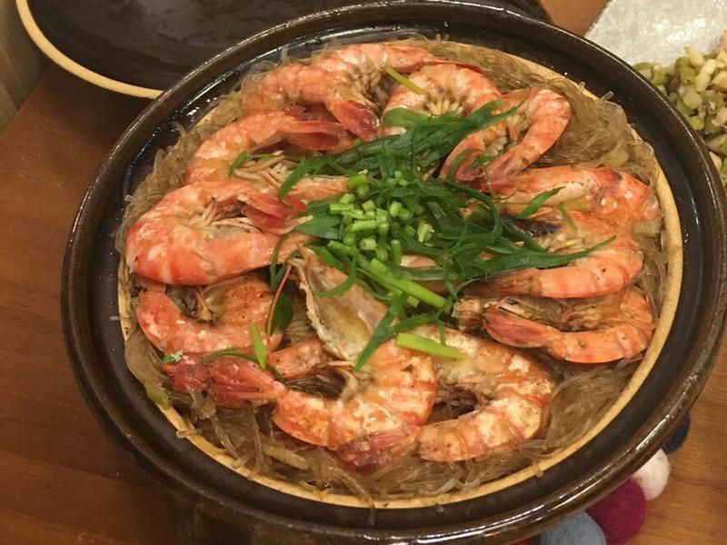 鮮蝦粉絲砂鍋煲