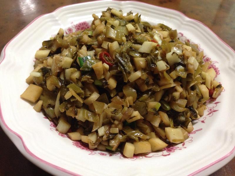 開胃菜---酸菜炒筍丁