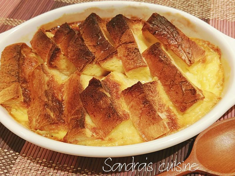 焦糖蘋果麵包布丁