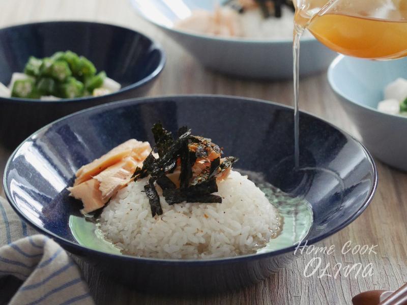 小廚娘❤鮭魚茶泡飯#電鍋