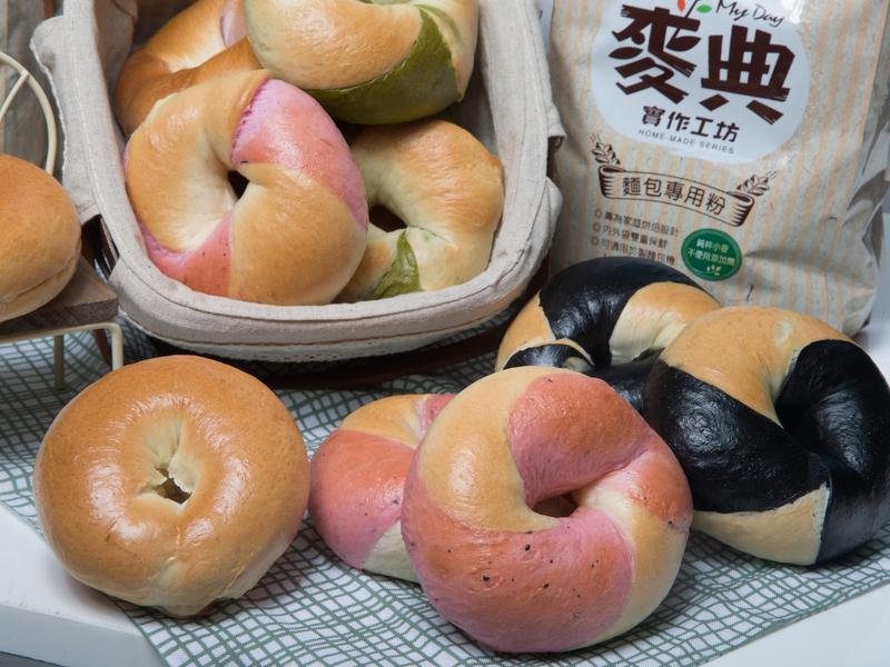雙色貝果【麥典實作工坊麵包專用粉】