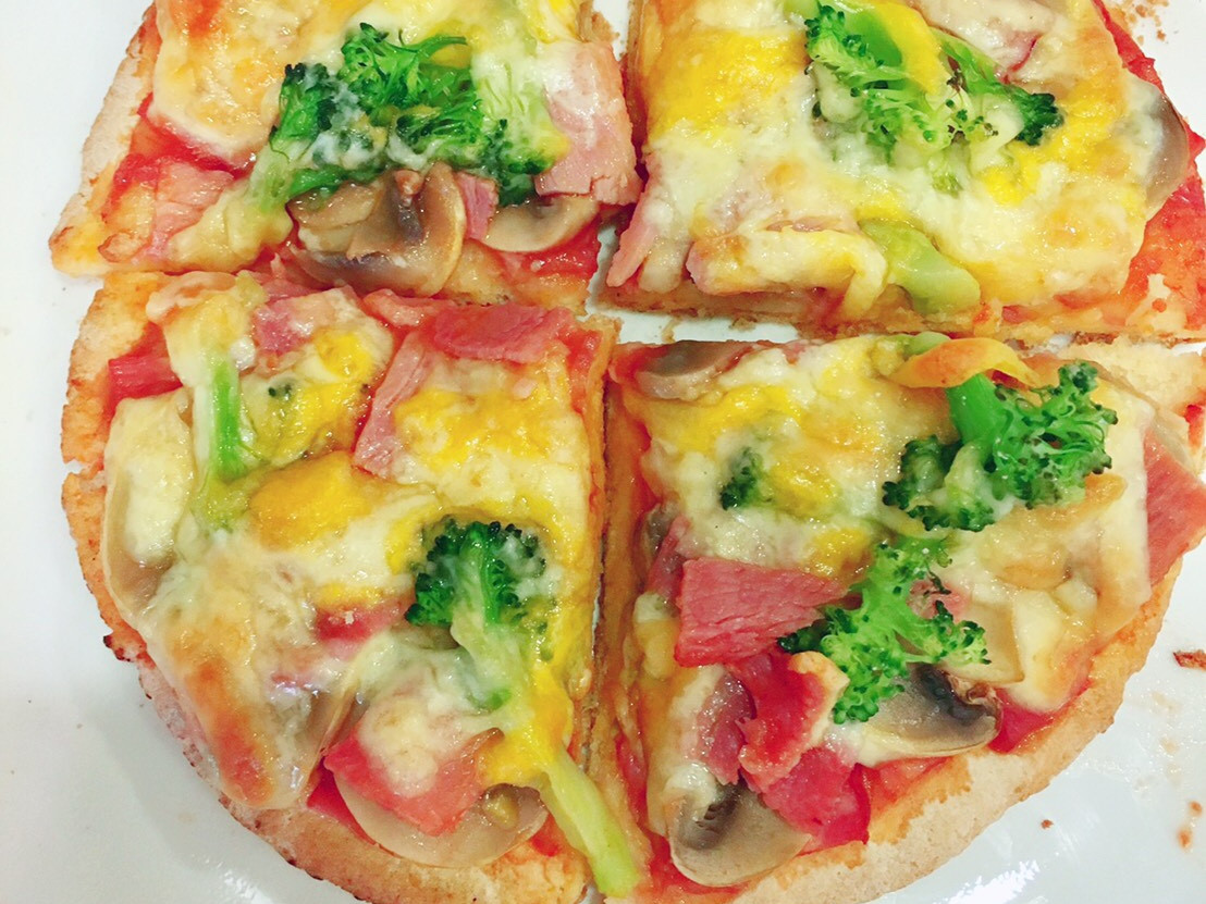 培根蘑菇起司披薩