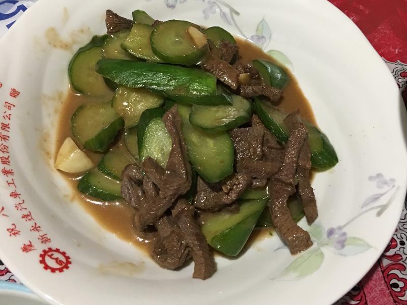 小黃瓜炒牛肉絲
