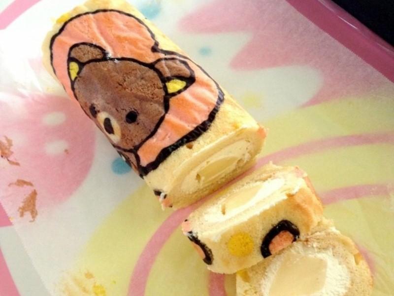 可愛彩繪蛋糕捲