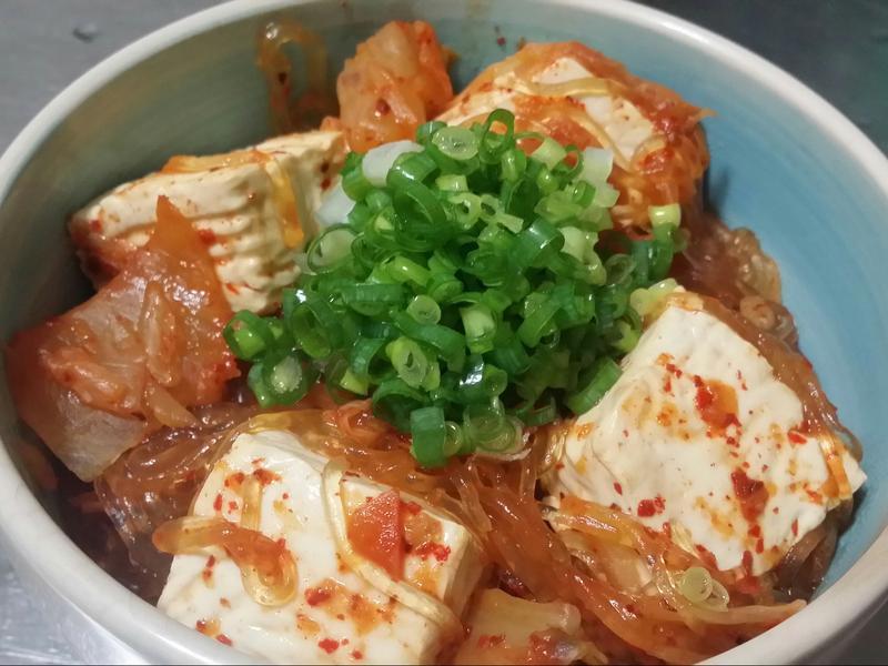 泡菜豆腐粉絲煲♡