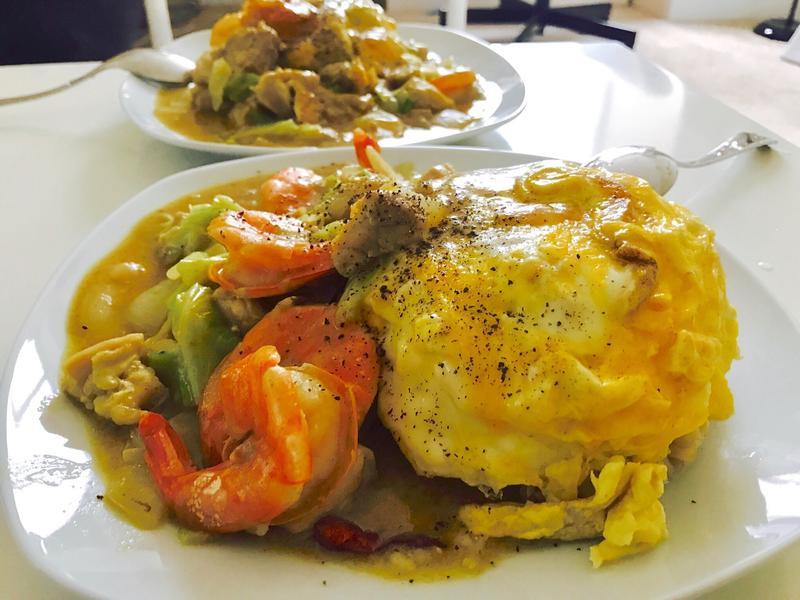 美式蛋包椰汁咖哩