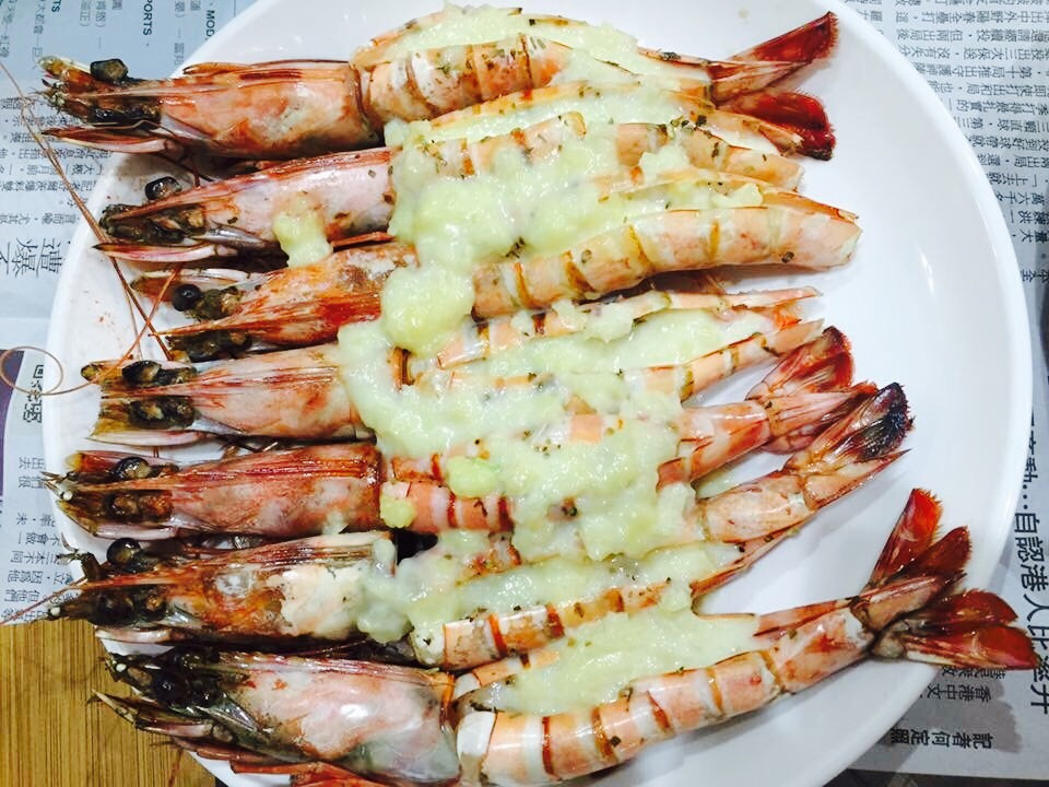 蒜香白醬大明蝦