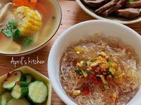 乾拌冬粉+鮮蔬雞湯