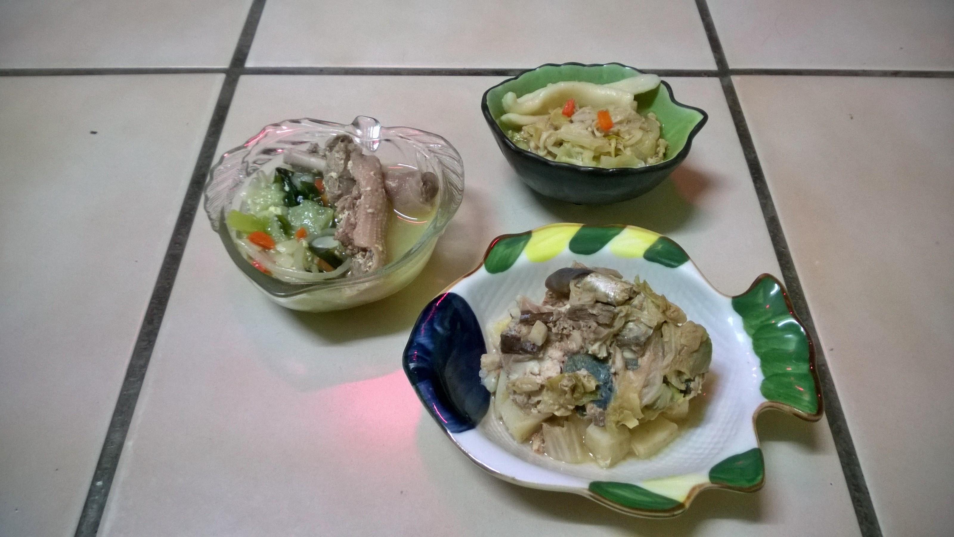 鮮食🐾絲瓜鴨肉湯 烏龍湯麵 燉鯖魚