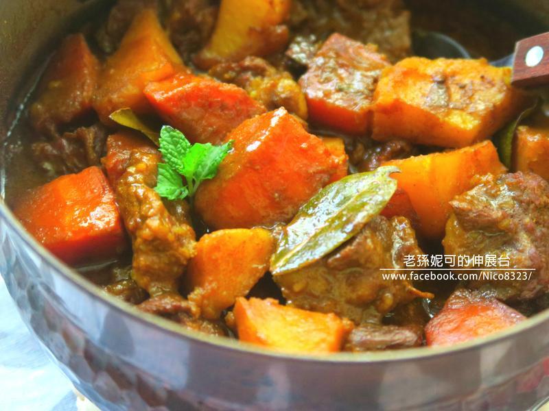 一鍋到底 蔬菜加哩牛肉