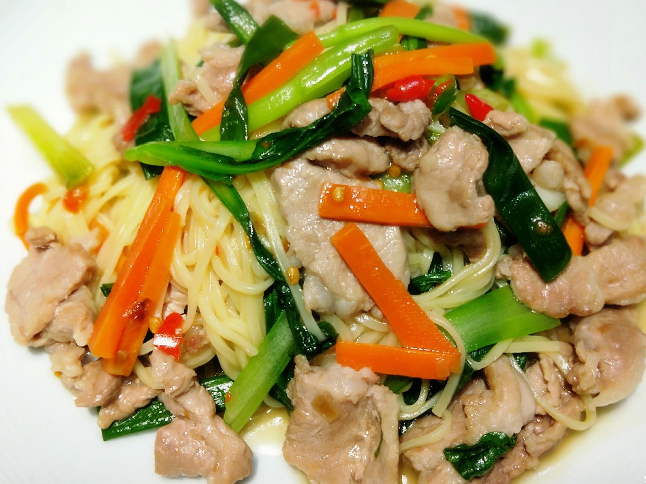 家常豬肉炒麵