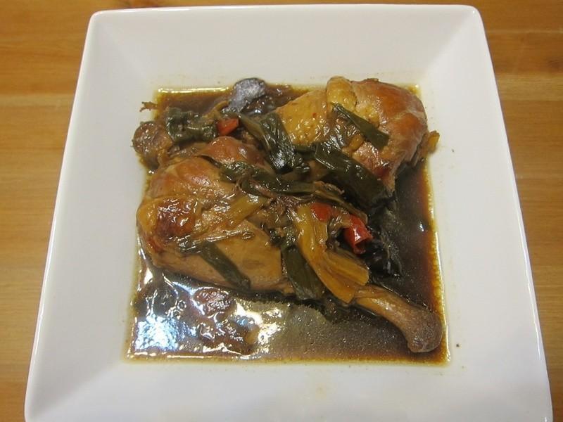懶人妻的超簡單料理~「蔥燒滷雞腿」