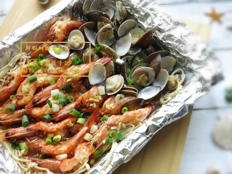 [鮮蝦金針菇蒸蛤蠣]3步驟 零失敗料理