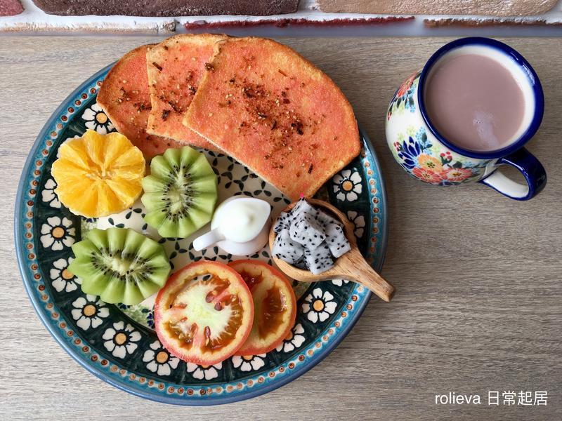 酥烤明太子優格🍊🥝🍅火龍果巧克力奶