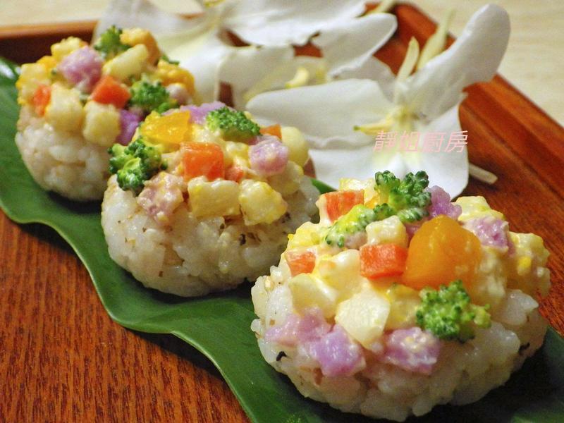 蔬食沙拉小飯盅