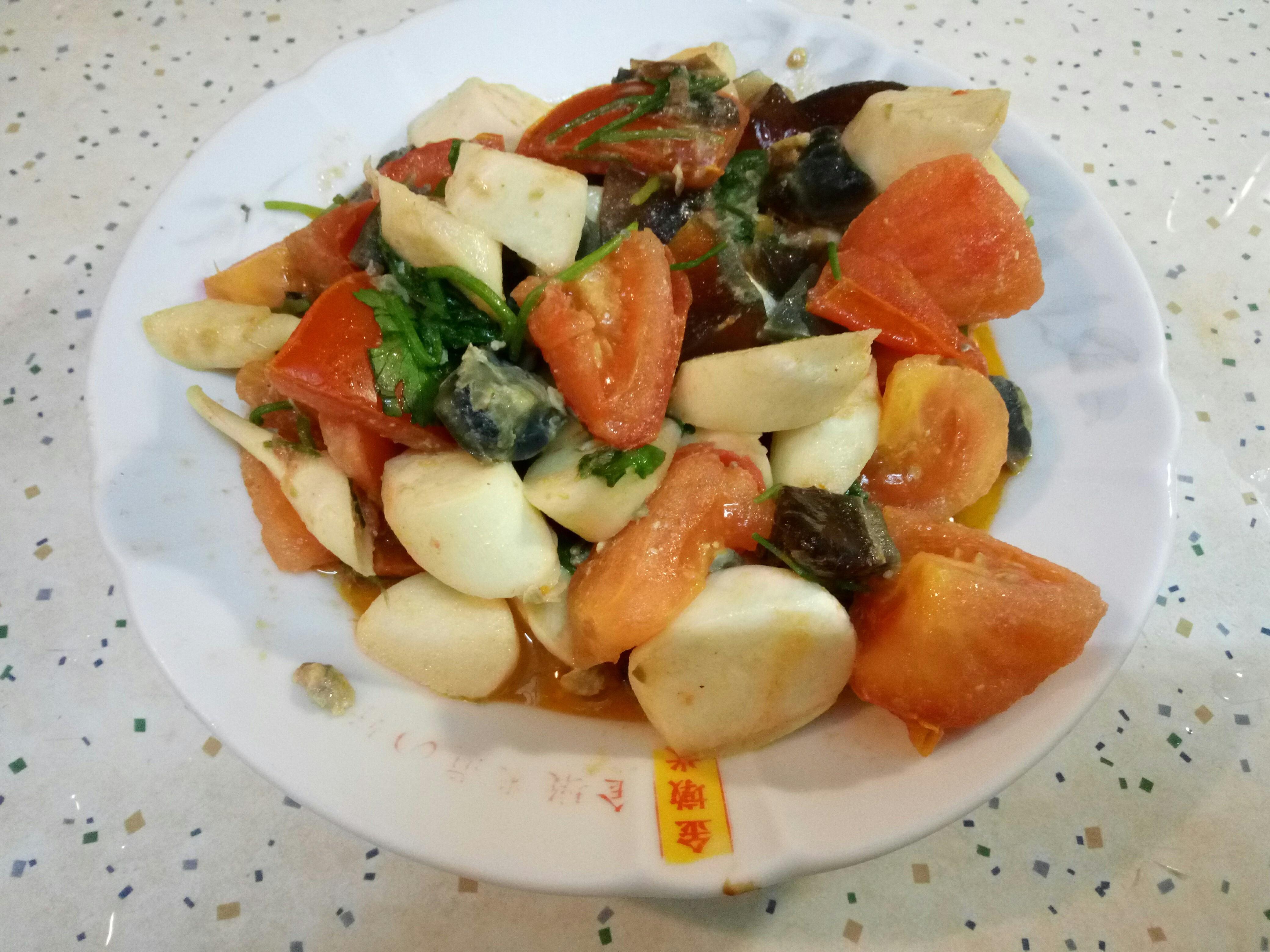 皮蛋炒茭白筍
