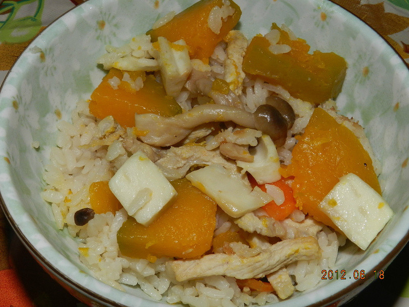 ㄚ曼達的廚房~南瓜炊飯