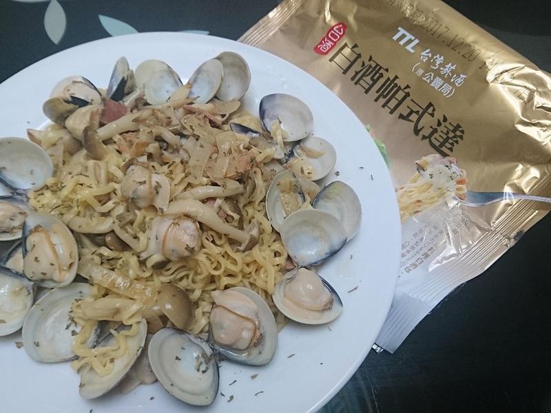 蛤蠣菇菇麵【白酒帕式達】